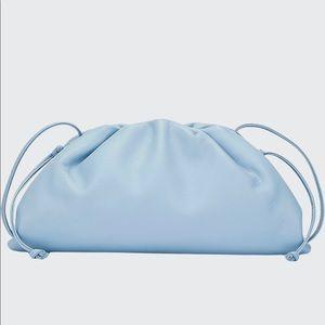 Bottega small pouch light blue NWT